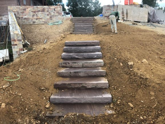 Albemarle Stairs Make Navigating Easier - Windridge Landscaping